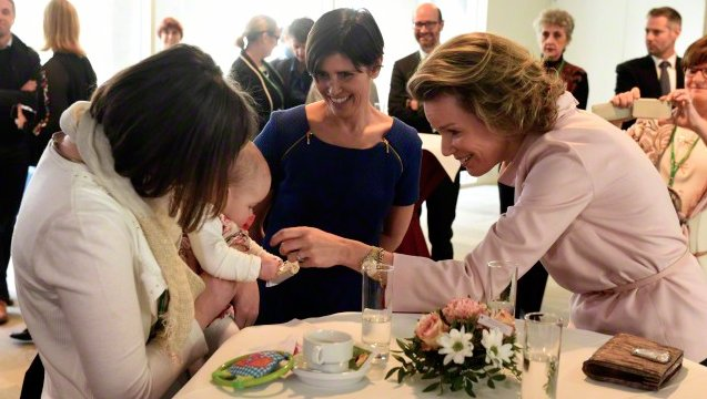 Queen Mathilde of Belgium has paid a visit to Leuven's University Hospital UZ Leuven