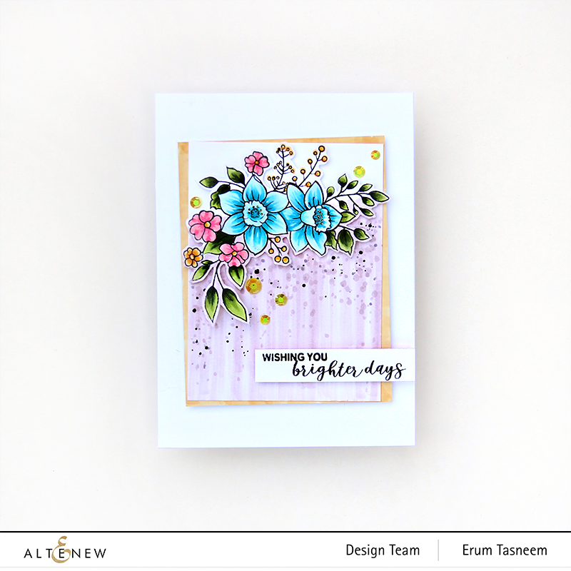 Altenew Paint-A-Flower: Daffodil | Erum Tasneem | @pr0digy0