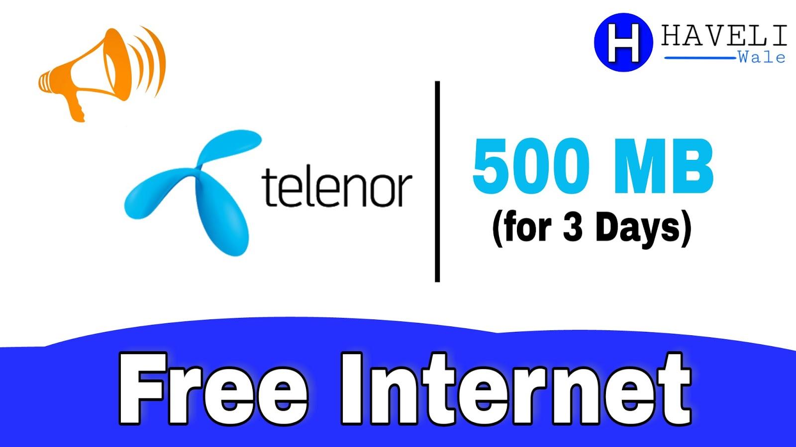 500MB Telenor Free Internet September 2018 Urdu | Telenor
