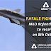 MoD Rajnath Singh to receive Rafale Fighter Jet on October 8