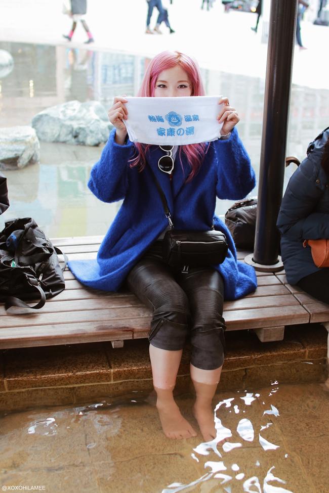 Japanese Fashion Blogger,Mizuho K,熱海駅 足湯