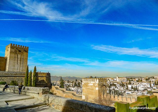 Torre de Homenage, na Alcazaba da Alhambra