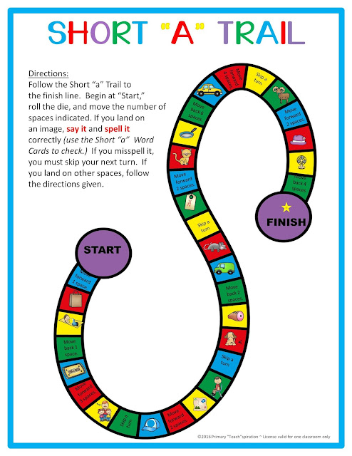 Short a CVC Word Work | Free game board for emergent readers!