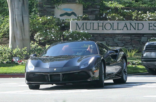 Kendall Jenner Drives Her Ferrari Out in West Hollywood