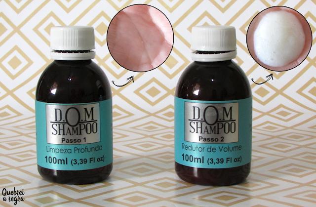 D.O.M Shampoo: redutor de volume sem formol e sem alteração de cor