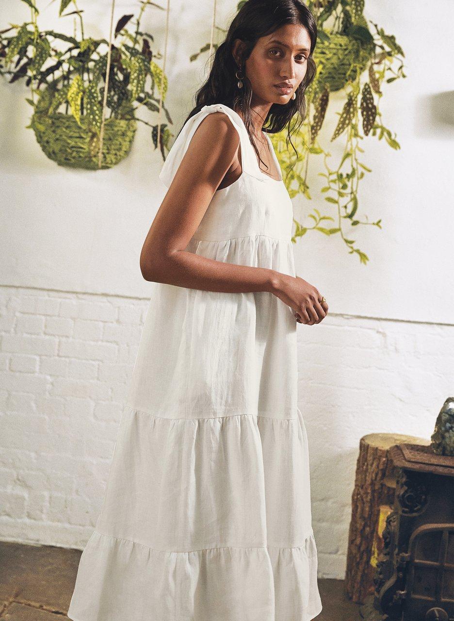 my midlife fashion, Baukjen Helena hemp dress