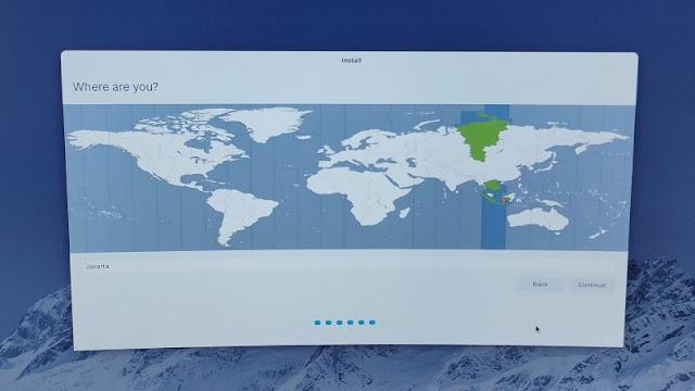 Pilih Region tempat tinggal saat install Linux