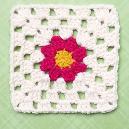 Basic Daisy Granny Square - Free Diagram