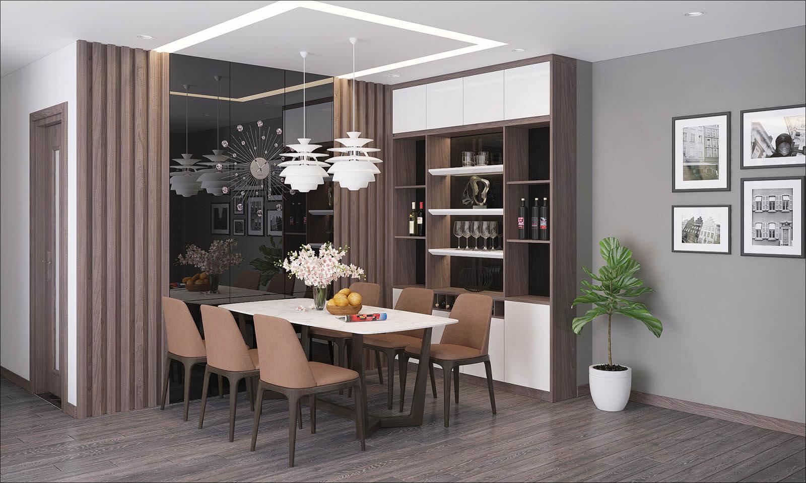 Phòng ăn dự án PD Green Park