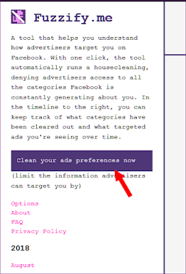 Fuzzify.me Clean Your Facebook Ad Preferences