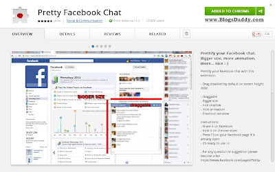 Pretty Facebook Chat Extension