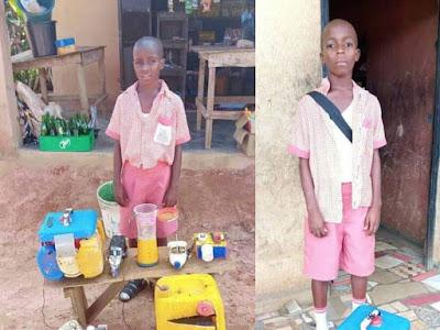 Talent! Meet Nigerian Kid, Ekhator Lucky He Loves Transformation. PHOTOS