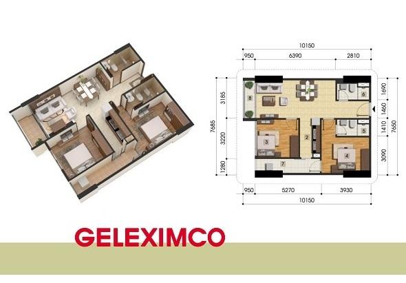 Mặt bằng chung cư Gemek Premium