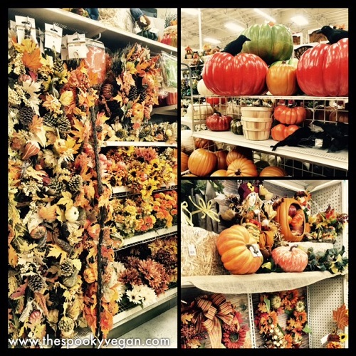 There Was Lots Of Fall Foliage Out Plus Pumpkins Scarecrows And An Entire Aisle Decor Take A Look At Some The First Items