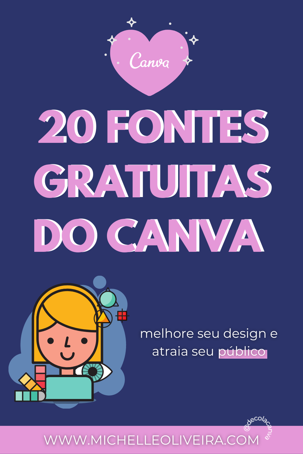 20 fontes gratuitas do canva