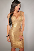 Rochie bandage Gold