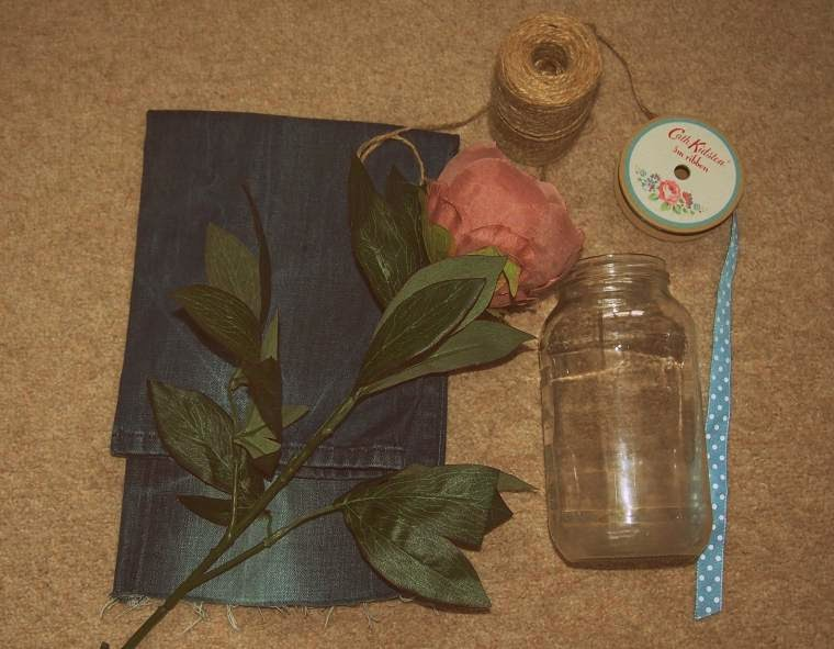 Up-Cycled Jeans Vase: Wordless Wednesday