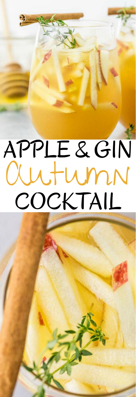 Apple & Gin Autumn Cocktail #drinks #cocktails