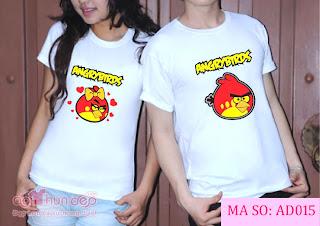 Áo Cặp Angry Bird Màu Trắng Mã AD015
