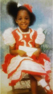 Paul Okoye's wife, Anita shares adorable throw back photo of herself when she was 4 years old