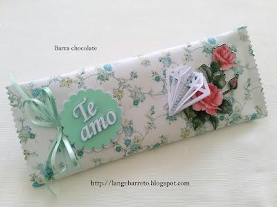 Barra de chocolate decorada