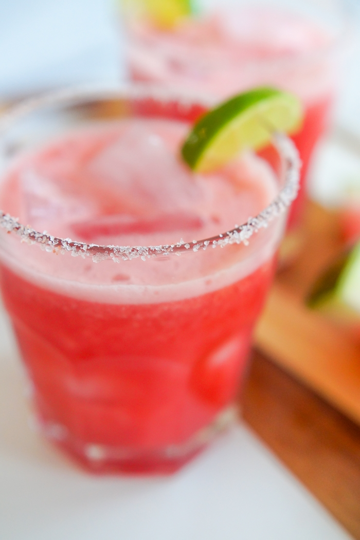 Watermelon Margarita Mocktails (Watermelon Mock-aritas?) | bakeat350.net for The Pioneer Woman Food & Friends