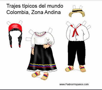 Descarga el traje típico de la zona andina de Colombia