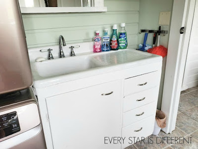 Minimalist Montessori Home Tour: Back Wash Area