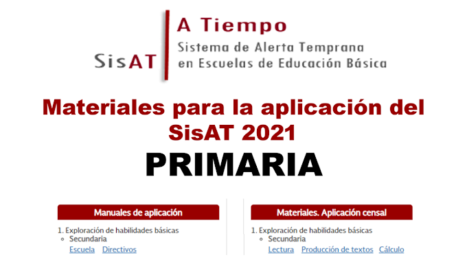 Materiales para la aplicación del SisAT 2021 en Primaria