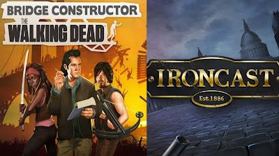 BRIDGE CONSTRUCTOR: THE WALKING DEAD e IRONCAST Grátis EPIC GAMES