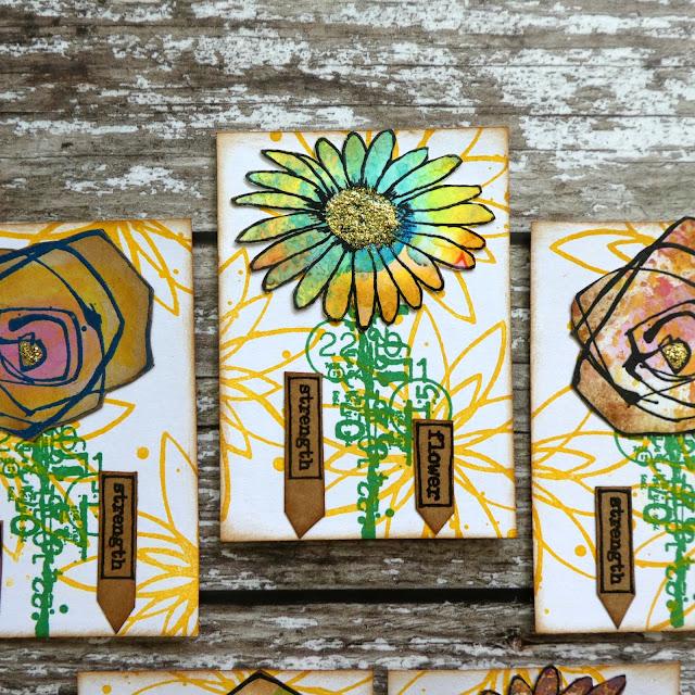 daisy stamp | ATC