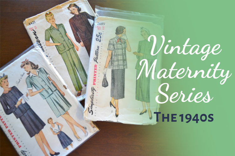 1940s Vintage Maternity fashion style