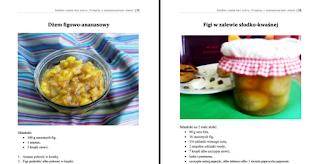 Wnętrze e-booka – dżem figowo-ananasowy i figi w zalewie