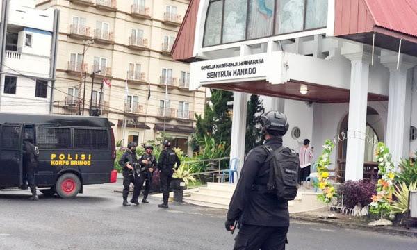 Polda Sulut dan Jajaran Tingkatkan Patroli Pascaledakan Bom di Makassar