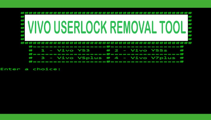 VIVO Userlock Removal Tool - Solutions For Remove Userlock