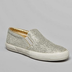 silver glitter slip on sneakers, trend 2014,