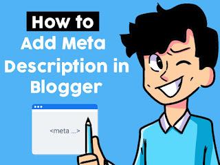 how to add meta tag description in blogger