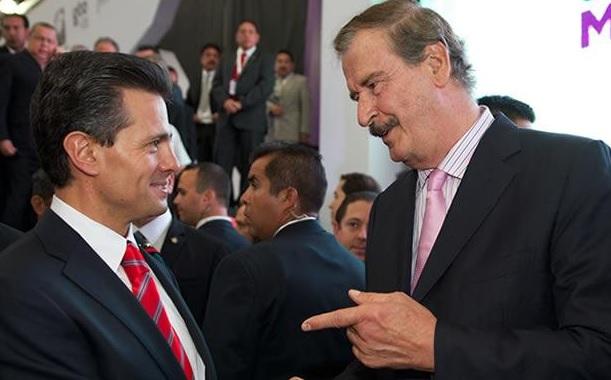 Vicente Fox con Peña Nieto