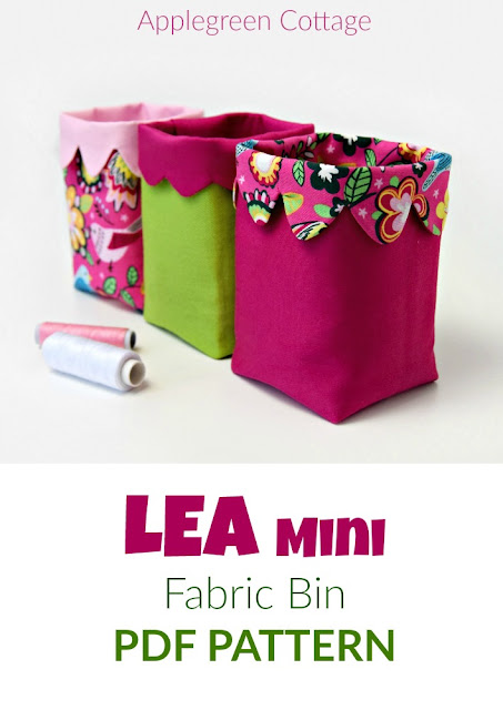 LEA Mini Fabric Bin - New Sewing Pattern