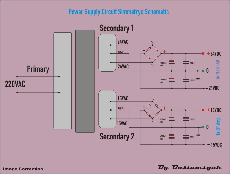 high voltage power supply with dual output power supply in ... dual output transformer wiring diagram potential transformer wiring diagram #13
