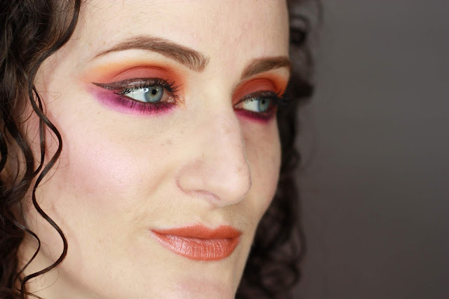 maquillage-orange-et-violet