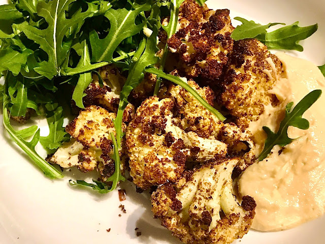 Copper Chimney inspired Chaat Masala style baked cauliflower