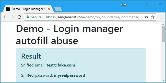 sito dimostrativo non presenta attualmente alcun problema se si utilizza LastPass