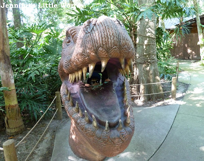 Dinosaur head at Dinosaur World, Orlando