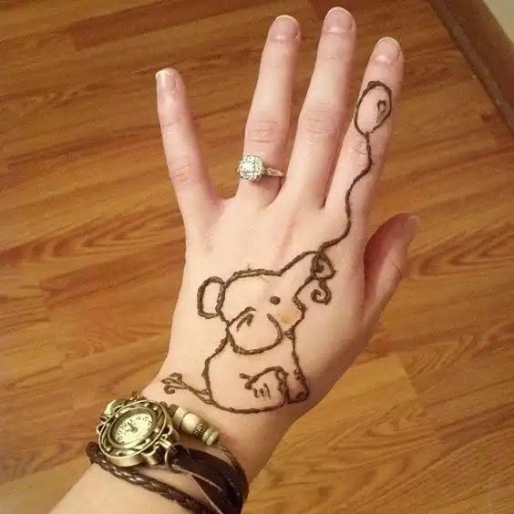 elephant-mehndi--design-for-kids