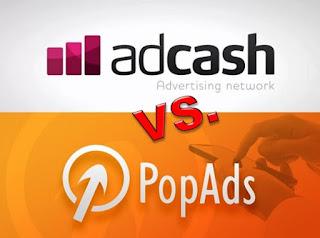 Comparación Popunder de Adcash vs PopAds
