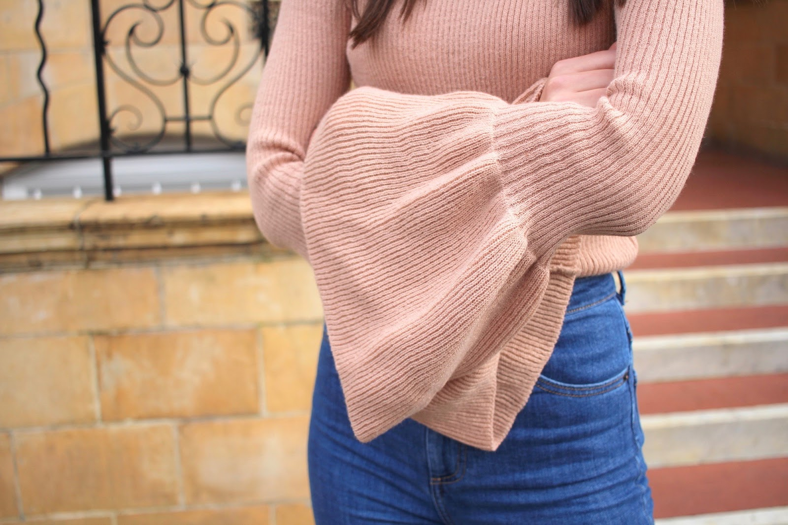 boohoo bell sleeves peexo style blogger london