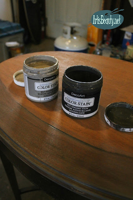 DECO ART AMERICANA DECOR COLOR STAIN CHARCOAL TABLE FINISH SEALER IN ONE DIY