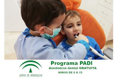 ASISTENCIA DENTAL INFANTIL GRATUITA (PADI) EN GRANADA CENTRO