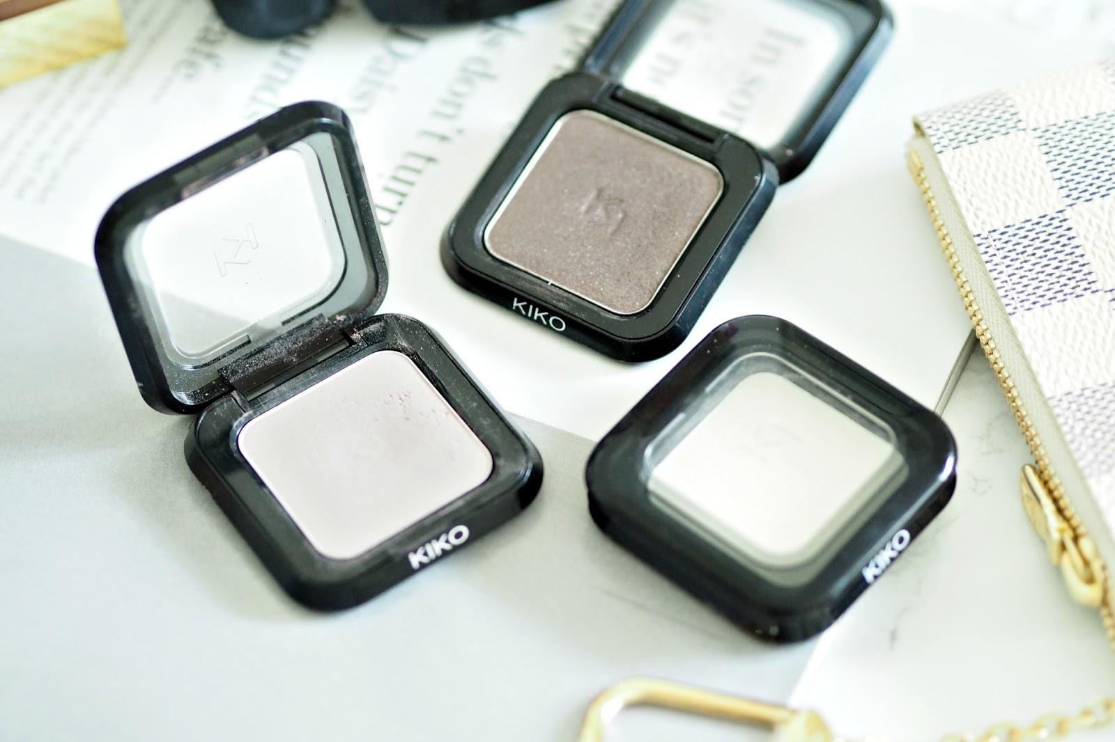 Kiko High Pigment Eyeshadows - Shades '01, 08 & 82'